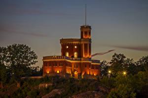 Hintergrundbilder Stockholm Schweden Burg Abend Straßenlaterne Kastellholmen