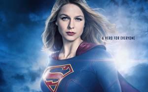 Fonds d'écran Supergirl Héros Voir Melissa Benoist 2015 TV Series Cinéma Filles Célébrités