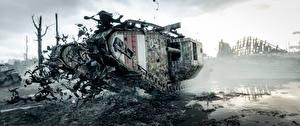 Papel de Parede Desktop Tanque Battlefield 1 Britanico Lama Mark V Jogos 3D_Gráfica