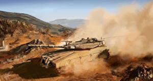 Images Tank Painting Art Merkava