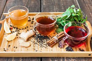 Fotos Tee Zimt Bretter Tasse Lebensmittel