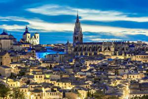 Fotos Toledo Spanien Haus Himmel Abend Tempel