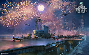 Image World Of Warship Fireworks Ship Aircraft carrier Fighter aircraft American Midway Games Army