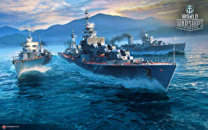 Image World Of Warship Ships Russian Soviet destroyers vdeo game Army