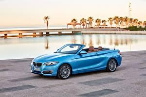 Wallpaper BMW Light Blue Cabriolet Metallic 2017 230i Cabrio Luxury Line Worldwide auto