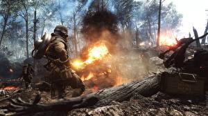 Bilder Battlefield 1 Soldaten Flamme Krieg Spiele 3D-Grafik