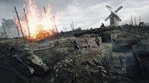 Pictures Battlefield 1 Tank Soldier War vdeo game 3D_Graphics