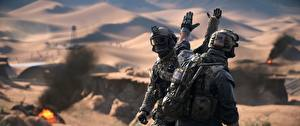 Wallpaper Battlefield 4 Soldiers US Two Games 3D_Graphics