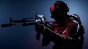 Bilder Battlefield 4 Soldat Sturmgewehr Militär Schutzhelm Amerikanischer Spiele 3D-Grafik