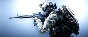 Hintergrundbilder Battlefield 4 Soldat Sturmgewehr Militär Schutzhelm Brille Amerikanisch US Assault Spiele 3D-Grafik