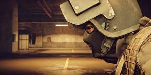 Bilder Battlefield 4 Soldat Großansicht Militär Schutzhelm Maske Amerikanische computerspiel 3D-Grafik
