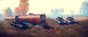 Papel de Parede Desktop Battlefield 4 Tanques Russo Jogos 3D_Gráfica
