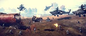 Hintergrundbilder Battlefield 4 Krieg Soldaten Hubschrauber Spiele 3D-Grafik