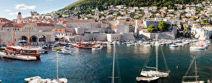 Wallpapers Croatia Building Marinas Motorboat Dubrovnik
