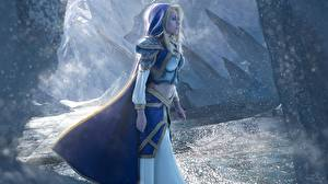 Pictures Crystal Maiden DOTA 2 World of WarCraft Cosplay Fantasy Girls