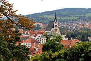 Bilder Tschechische Republik Haus Dach Ast Cesky Krumlov Städte