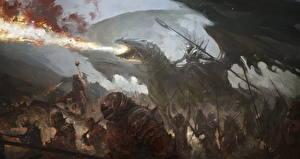 Bureaubladachtergronden Draken Krijgers Een harnas Fantasy