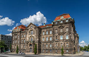 Image Dresden Germany Building Street Trees Cities