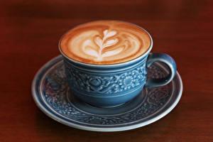 Bilder Getränke Kaffee Cappuccino Bretter Tasse Lebensmittel