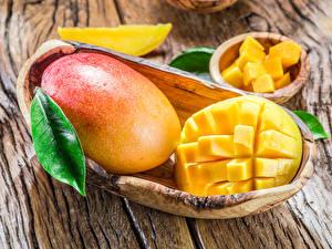 Fotos Obst Mango Großansicht Bretter
