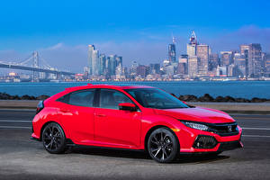 Pictures Honda Red Metallic 2017 Civic Touring Hatchback auto