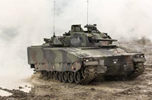 Papel de Parede Desktop VCI Lama Combat Vehicle 90, Sweden militar