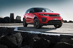 Papel de Parede Desktop Land Rover Vermelho Evoque Carros
