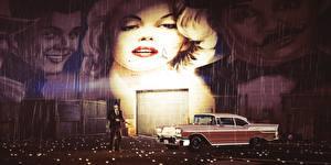 Images Men Rain GTA 5 Marilyn Monroe Graffiti vdeo game