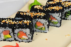 Bilder Meeresfrüchte Sushi Kaviar