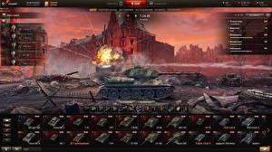 Sfondi desktop Carro armato T-34 World of Tanks Russi Videogiochi