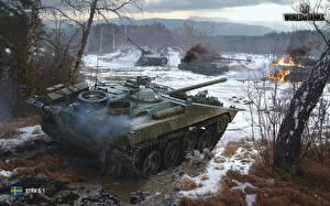 Wallpaper WOT SPG Mud Strv S1, Swedish Games