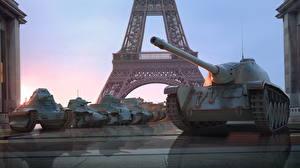 Bilder WOT Panzer Eiffelturm French Spiele