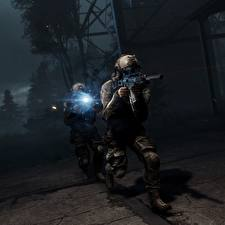 Photo Battlefield 4 Soldiers Assault rifle US Night 2 Games 3D_Graphics