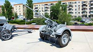 Bilder Kanone Russland Wolgograd Museum Deutsch 20 mm Plak 30 Militär
