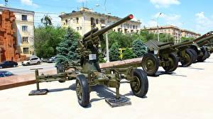 Hintergrundbilder Kanone Russland Wolgograd Museum Russischer 85 mm air defense gun M1939 (52-K)(obr 1939)