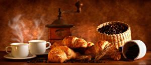 Hintergrundbilder Kaffee Croissant Tasse Getreide Ähre Lebensmittel