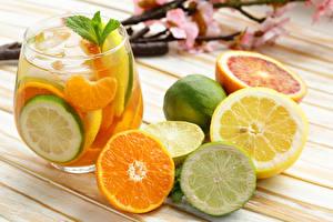 Image Drinks Lemons Orange fruit Highball glass Food