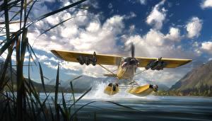 Bilder Far Cry 5 Wasserflugzeug Start Luftfahrt computerspiel