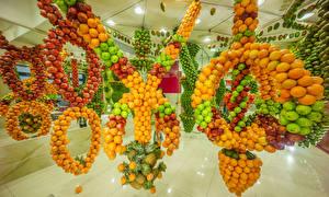 Hintergrundbilder Obst Äpfel Granatapfel Mandarine Ananas Mango Design