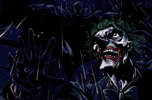 Pictures Superheroes Batman hero Joker hero Night time Fantasy