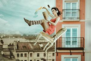 Images Knee highs Headphones Chairs Flight Fall down Book Legs