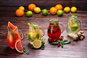 Bilder Zitronen Limonade Grapefruit Getränke Kanne