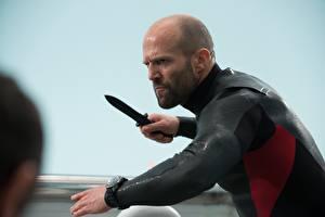 Photo Man Jason Statham Knife Bald Mechanic 2 Movies Celebrities