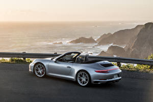 Pictures Porsche Silver color Convertible 911 Carrera Cars