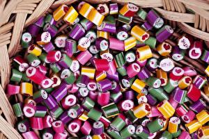 Fotos Süßigkeiten Bonbon Viel candy caramel Lebensmittel