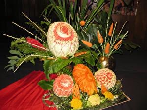 Hintergrundbilder Gemüse Obst Wassermelonen Design Blatt Lebensmittel