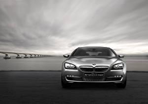 Hintergrundbilder BMW Vorne Grau Coupe Concept F13 6-Series Autos
