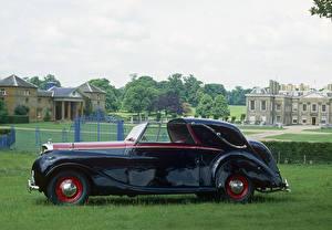 Hintergrundbilder Bentley Antik Metallisch Seitlich 1949 Mark VI Sedanca Coupe by Gurney Nutting Autos