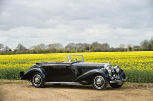 Fotos Bentley Antik Cabrio Schwarz Metallisch  Autos