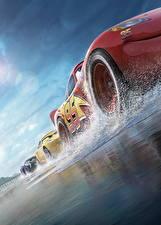 Fotos Cars 3 Rad Untersicht Ansicht von unten Lightning McQueen, Cruz RamireJackson Stormz